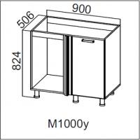 Стол-рабочий  1000 (угловой под мойку)