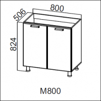 Стол-рабочий 800 (под мойку)
