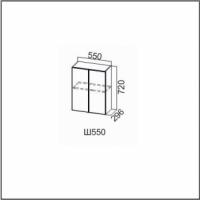 Шкаф навесной 550